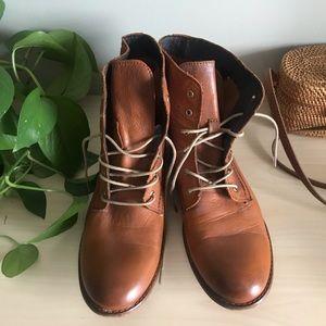 Miz Mooz Brown Lace Up Boots